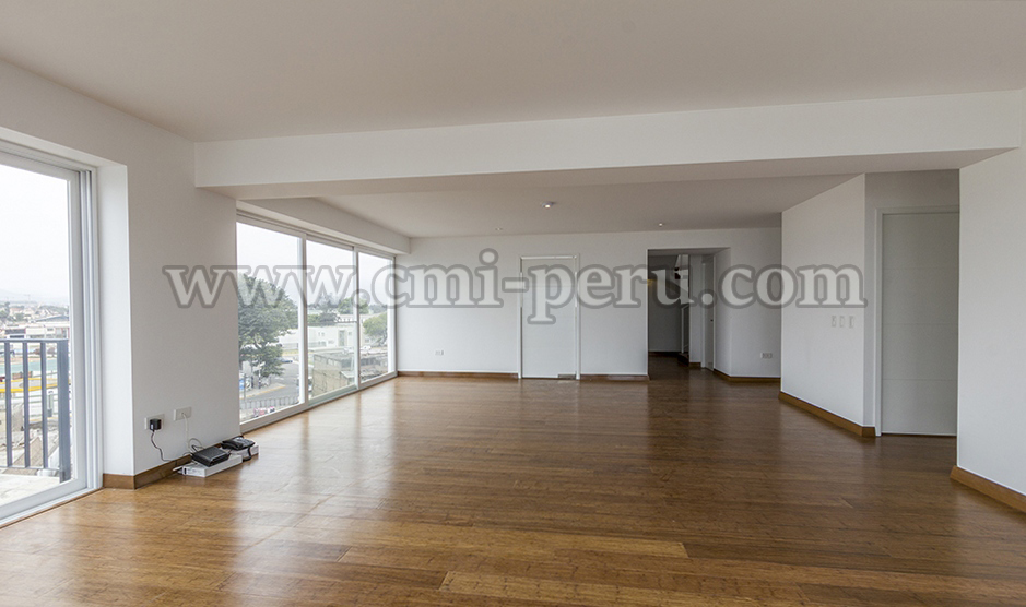 Alquiler de departamento dúplex penthouse en Barranco